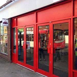 Shop frontage customer testimonial